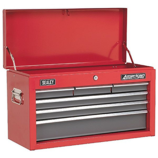 Sealey Red/Grey 6 Drawer Topchest With Ball Bearing Slides