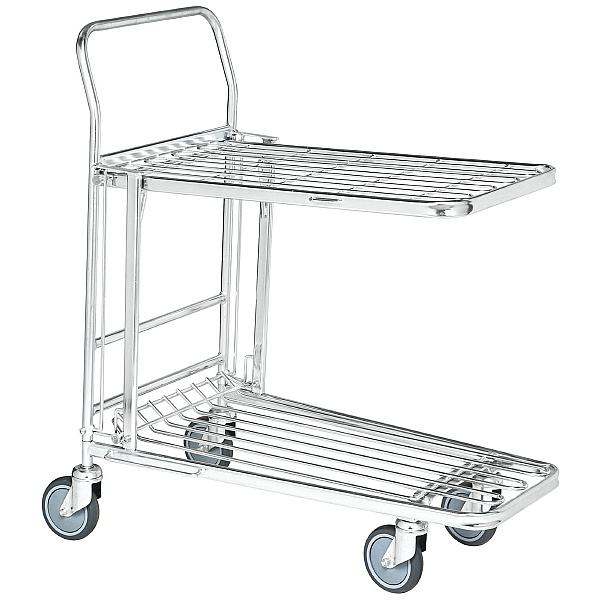 Konga Nesting Stock Trolley with Foldaway Shelf