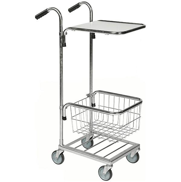 Konga Mini Mail and Picking Trolley with 1 Shelf and 1 Basket