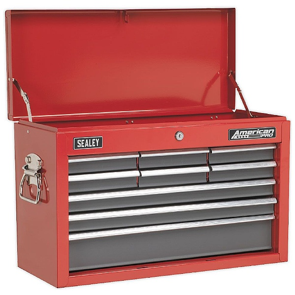 Sealey Red/Grey 9 Drawer Topchest With Ball Bearing Slides