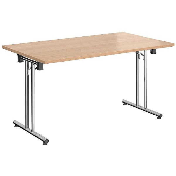 NEXT DAY Rectangular Chrome Folding Tables