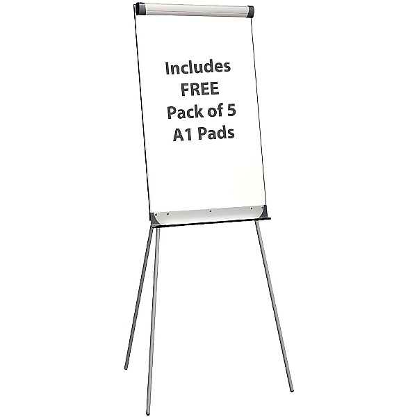Province A1 Drywipe Flipchart Easel With FREE Pads