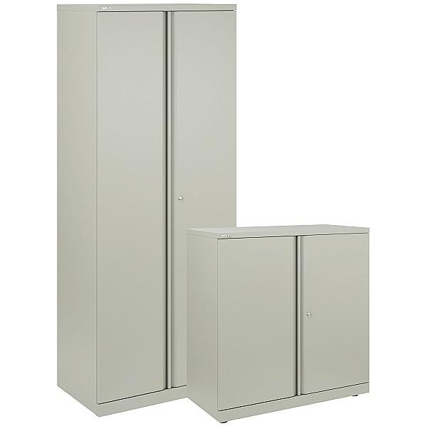 NEXT DAY Bisley Steel Two Door Cupboards