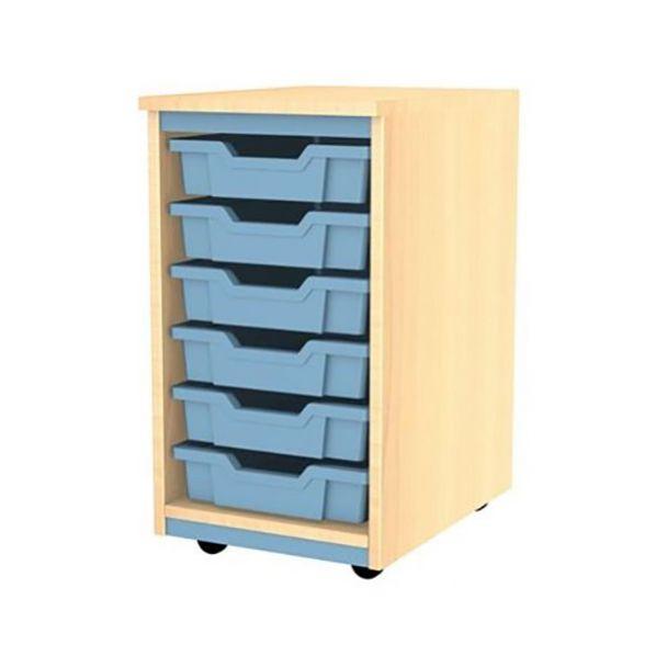 Splash Single Column 6 Tray Storage Unit