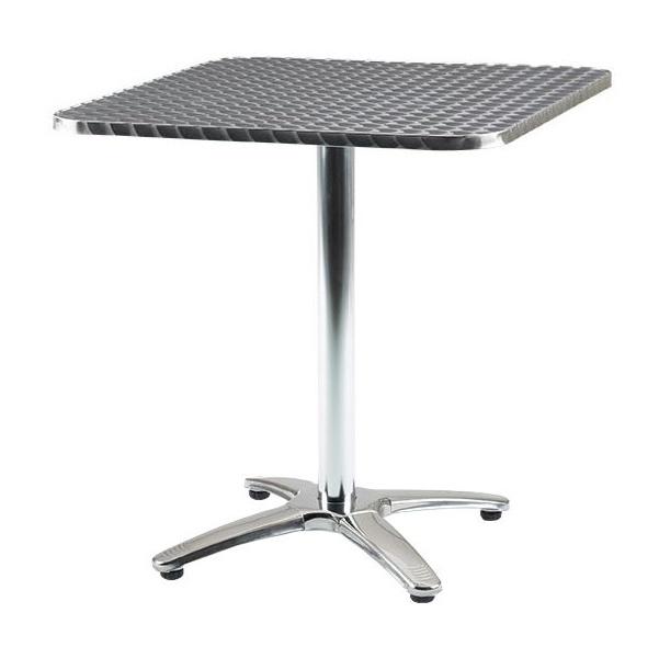 Aluminium Bistro Square Table