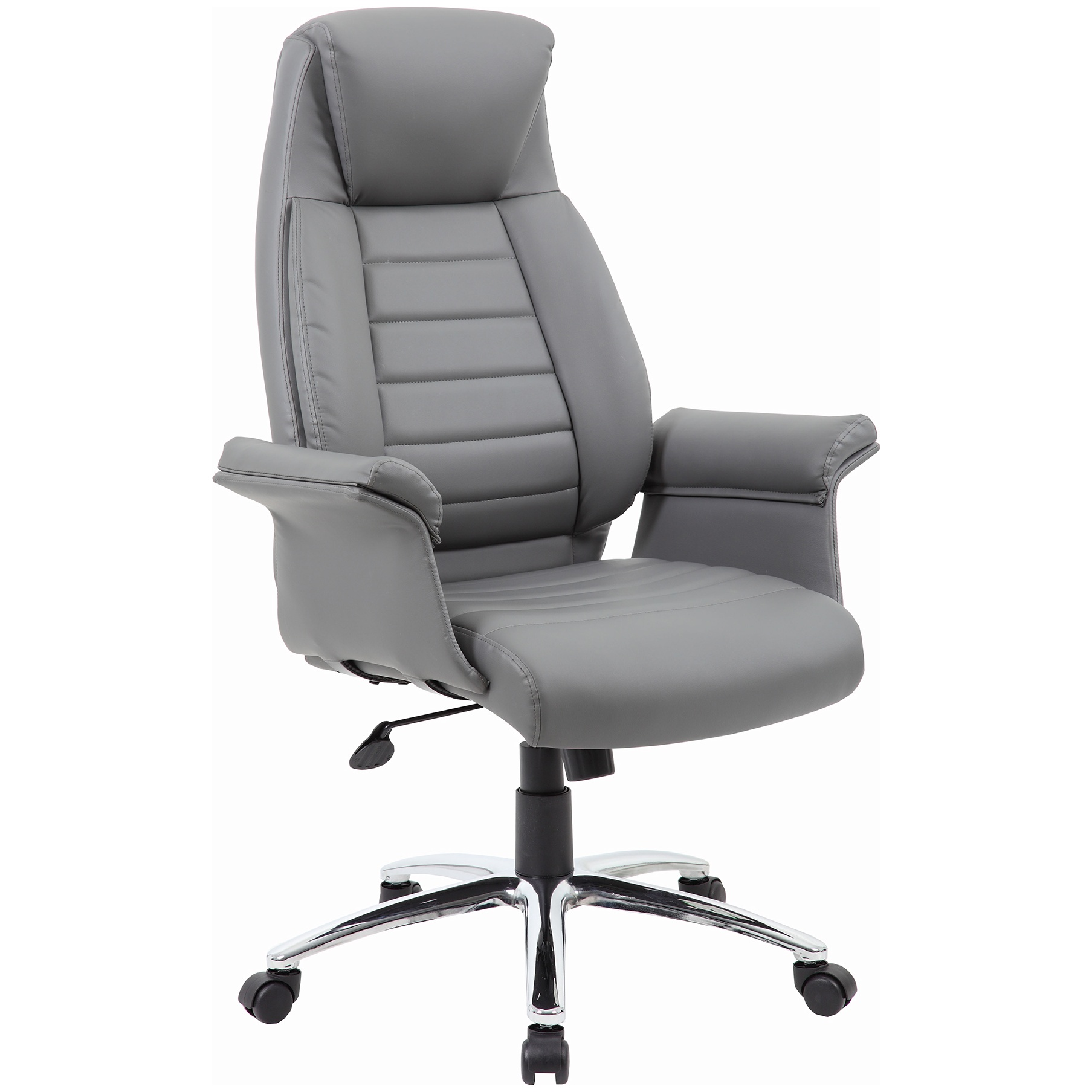 Jersey High Back Executive Leather Faced Armchair ...