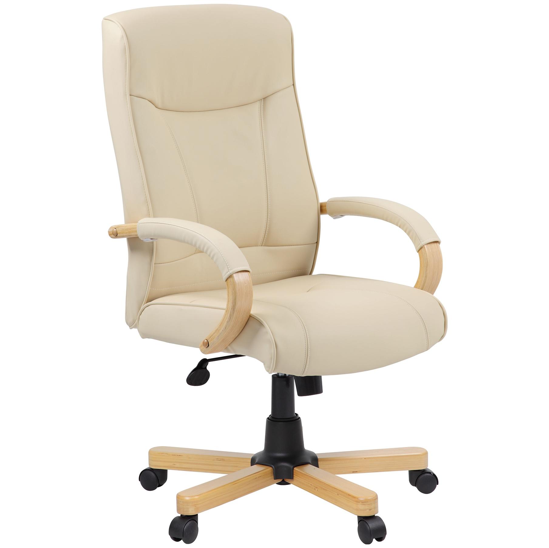 Farnham Cream Leather Office Chair